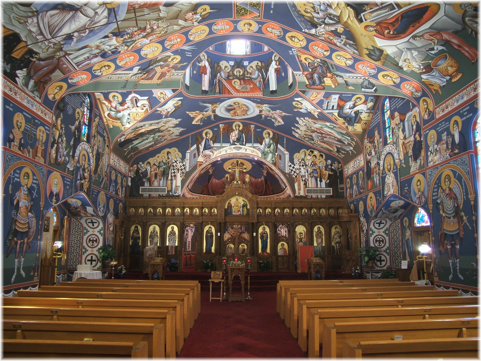 Orthodox worship is experienced through the senses we smell the